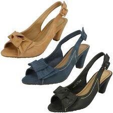Ladies Spot On - Heeled Peep Toe Sandal