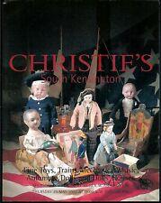 Jouets jeux Automates Trains Poupées Christie's 2002