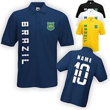 Brasilien Brazil Polo-Shirt Trikot mit Name & Nummer S M L XL XXL