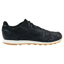 Reebok Classic Leather Clean Exotics Schuhe Turnschuhe Sneaker Damen Schwarz