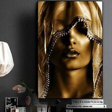 Beautiful Assassin Golden Women Canvas Wall Art Girl Posters New Room Decoration