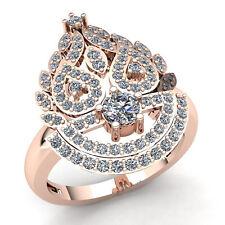Genuine 2ct Round Cut Diamond Ladies Unique Bridal Engagement Ring 14K Gold
