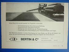 5/1971 PUB BERTIN et Cie THERMOSOUFFLANTE TSII  DENEIGEUSE FLUGHAFEN GERMAN AD