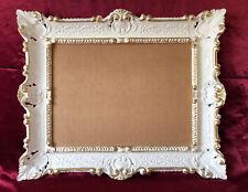 Antique Baroque Cadre D'Image or Blanc 56x46 Cadre Photo Répliques Cadre