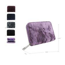 Women's Designer Style Velvet Small Zip Purse Zip Close Wallet Girls Purse