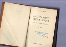 meditazioni sulla bibbia - gastone brillet-  quarta edizione 1970