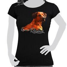 donna t-shirt stampata cotone POLIGONO TAGLIA S-XXL CANE RHODESIAN RIDGEBACK