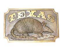 Texas Gürteltier belt buckle / Gürtelschnalle Western, boucle/ hebilla/ пряжка
