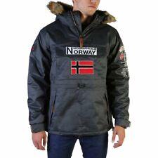 Geographical Norway Barman Dark Grey Pullover Hoodie Men's Parka Jacket