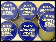 6 x DAX SHORT and NEAT Light Hair Dress Pomade - Blaue Dose