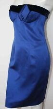 Escada electric blue strapless Cocktail Dress NEW 34 4
