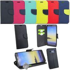 Housse etui coque portefeuille pour Samsung Galaxy Note 8 + verre trempe