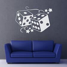 Wandtattoo Würfel Retro Dice Casino Cube Aufkleber Wall Art Wand Tattoo #2052