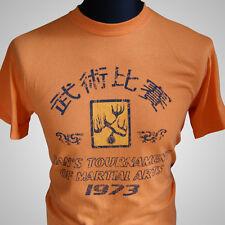Operación Dragón torneo de Hans Película Retro Camiseta Bruce Lee MMA Tange
