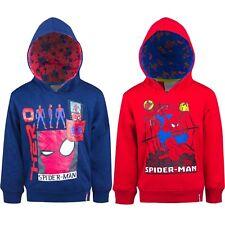 Neu Hoodie Kinder Pullover Sweatshirt Jungen Spiderman rot blau Gr.98 - 128 #48