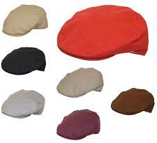 Calidad Hombre Cheshire Verano Forrado Boina 100% Forro Sombrero 7 COLORES