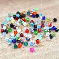 Glasschliffperlen Crystal facettiert Bicone Rhombe Perlen 500 Stück 4mm 6mm