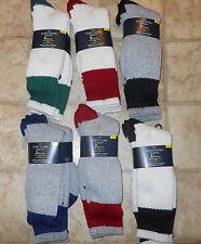 2-Pair Men Boot Socks Faded Glory Cotton/Wool New Work S 6-12