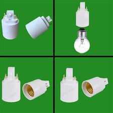 G24 GX24 a E27 - 2 pines o 4 pines zócalo de lámpara Bombilla Convertidor Adaptador