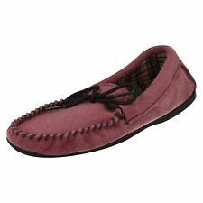 Donna 'BELLA Malva CAMOSCIO MOCASSINI pantofole