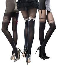 Para mujeres Calzas Con Dibujos look glam Elle Knittex nuevo 3D Pantis 50 Denier