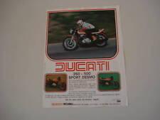 advertising Pubblicità 1978 DUCATI 350/500 SPORT DESMO