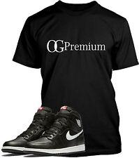 Black OG Premium T Shirt Designed to match Air Jordan 1 Retro OG Priemum Shoes