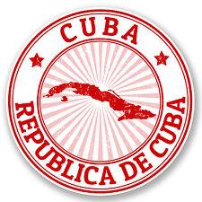 2 X Cuba pegatina de vinilo calcomanía viaje Equipaje Tag Ipad Bandera Laptop Regalo Divertido # 4729