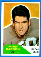 1960 Fleer JOHN CARSON  - Houston Oilers (vg-)