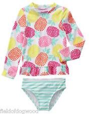 NWT Gymboree Fruit Punch pineapple Rash Guard SET 5-6,7-8, 10-12 Swimsuit