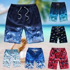 Men's Shorts Elastic Floral Beach Bottoms Pants Summer Beach Trousers Plus Size