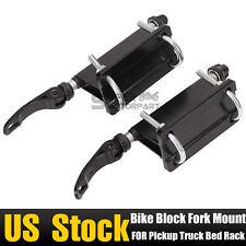 2 Bike Block Heavy-Duty QR Alloy Fork Mount Holder Pickup Truck Bed Rack Carrier