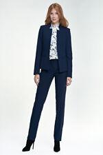 Ensemble tailleur costume femme pantalon + veste bleu marine top qualité NIFE