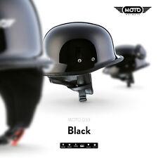 MOTO D33 BLACK - CASCO DEMI-JET VESPA SCOOTER HELMET RETRO VINTAGE S M L XL XXL
