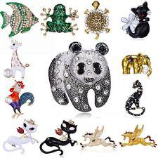 Charm Panda Horse Animals Crystal Pearl Brooch Pin Fashion Women Jewelry Costume