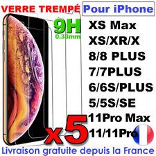 VITRE PROTECTION VERRE TREMPÉ FILM ÉCRAN IPHONE 8 7 6S PLUS 5 X XR XS MAX 11 PRO