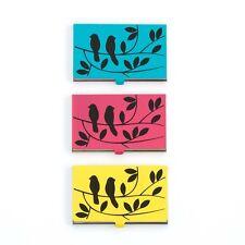 Design Ideas TWEET Bird Identity Business Card Case Choice Yellow, Pink or Teal
