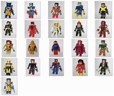 Marvel DC Minimates Superhero Toy Figures (Ghost Rider X-Men Avengers)