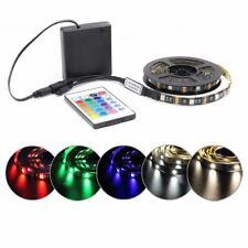 Battery LED Strip Light RGB 5V SMD 5050 2538 Waterproof Tira LED IR RF Remote Co
