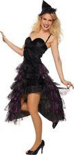 Mot - Damen Kostüm Hexe Kleid mit Hexenhut zu Halloween Karneval