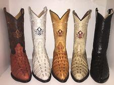MEN'S WESTERN COWBOY CROCODILE PRINT EMBOSSED LEATHER BOOTS BOTAS DE COCODRILO