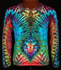 T-Shirt Gr.S - 5XL langarm handgefärbt Hippie Tie dye Batik Flower Power Goa NEU