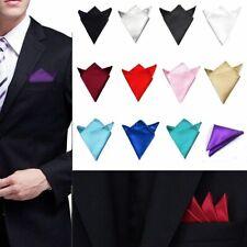 New Men's Satin Silk Pocket Square Hankie Hankerchief Wedding Party Formal Suit