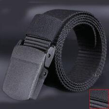 Fashion Da Uomo, Sport Casual Cinture Plastica Automatico Buckle Tela New