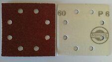 115mm x 115mm Hook & Loop Backed (1/4 sheet) Sanding Sheets - 8 holes - Qty 10