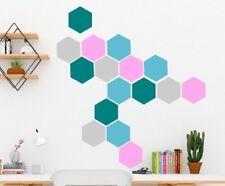 Pared Adhesivo geométrica hexágonos conjunto de 20 calcomanías desprendibles Scandi Estilo De Ikea