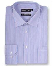 Double Two Uomo Puro Cotone Easy Care Camicia A Righe (3728) in 2 Colori Opzioni