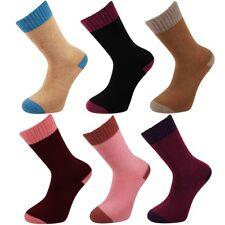 2 Tone Ladies Merino Lambs Wool Blend Warm 2.4 Tog Socks - UK 4-8 Socks