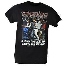 Star Wars A Long Time Ago In A Galaxy Far Away Graphic Black Tshirt Tee