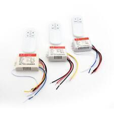 1/2/3 Ways ON / OFF 220V Récepteur sans fil Lampe Interrupteur à distance
